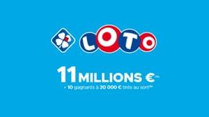 FDJ Loto : jouez en ligne pour tenter de remporter le jackpot de 11 millions d'euros