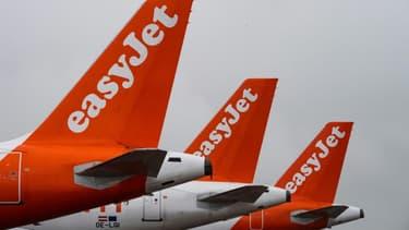 Des avions de la compagnie Easyjet à l'aéroport de Berlin en octobre 2020