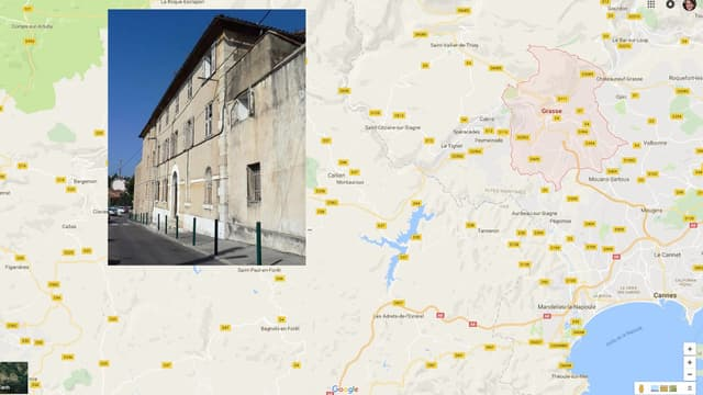Le bien se trouve dans le centre de Grasse.