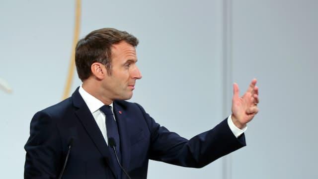 Le président français Emmanuel Macron le 20 novembre 2019