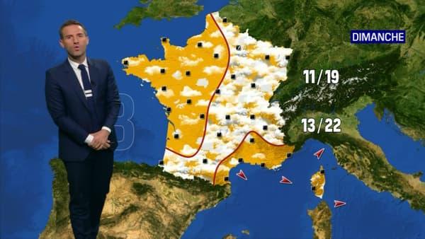 Les températures en France ce dimanche.