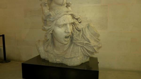 Le moulage de la Marseillaise après restauration.