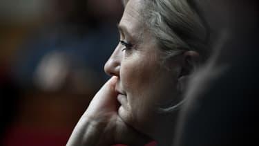 Marine Le Pen à l'Assemblée nationale, le 7 janvier 2020.