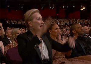 Merryl Steep lors de la dernière cérémonie des Oscars.