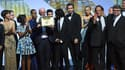 Les lauréats du festival de Cannes, dimanche soir sur scène.