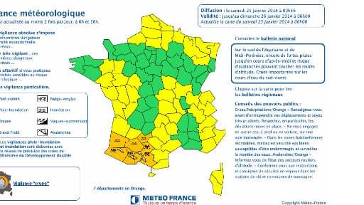 8 départements du Sud-Ouest sont placés en vigilance orange samedi.