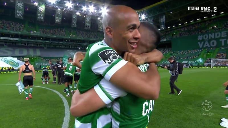 Portugal : La joie et les larmes des joueurs du Sporting après leur sacre