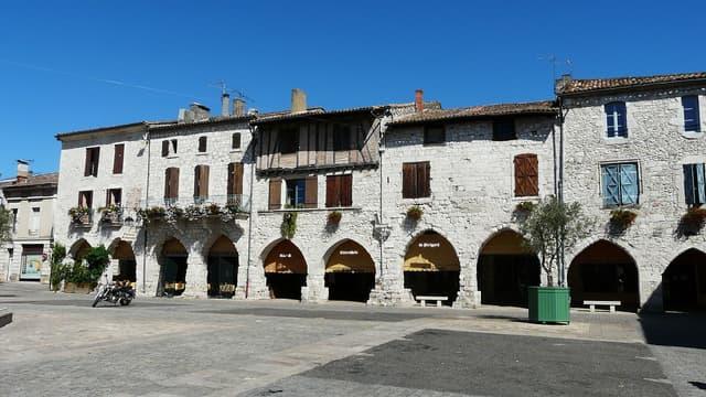 Vue du village d'Eymet, en Dordogne