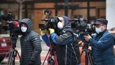 Des journalistes américains en reportage