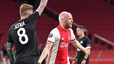 Davy Klaassen après son but contre Lille en Ligue Europa