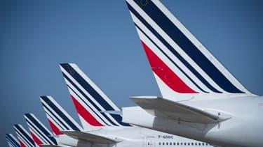 Des avions Air France sur le tarmac de Roissy-Charles-de-Gaulle, le 6 août 2018.