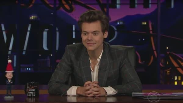 Harry Styles à la présentation du Late Late Show sur CBS