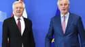 David Davis et Michel Barnier, les négociateurs des conditions du Brexit.