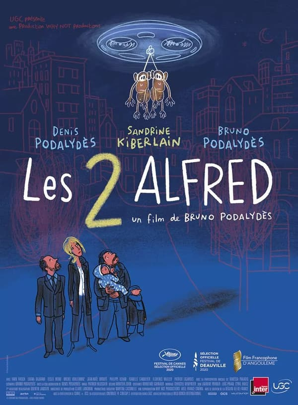 "Affiche des ""2 Alfred"" de Bruno Podalydès"