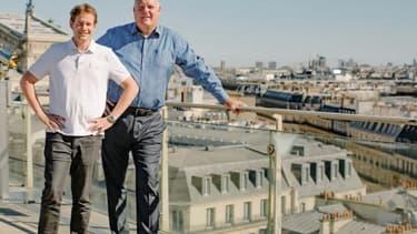 Olivier Hersent (à gauche sur la photo) est le cofondateur d'Actility, dirigée par Mike Mulica (à droite sur la photo)