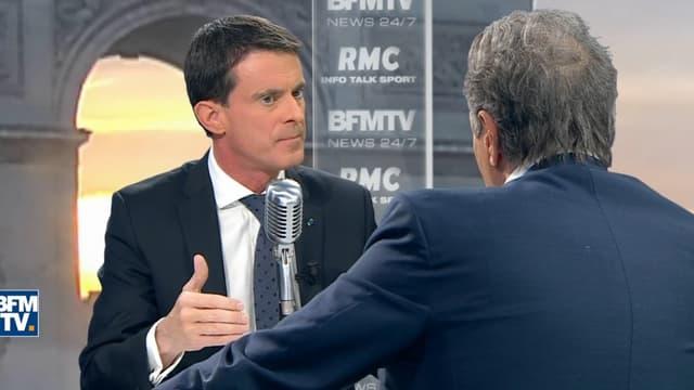Manuel Valls était l'invité de RMC.