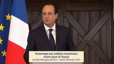 François Hollande a rendu hommage mardi aux soldats musulmans morts pour la France.