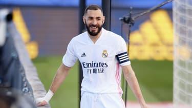 Karim Benzema tout sourire avec le Real Madrid