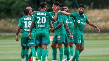 L'AS Saint-Étienne en amical contre Charleroi, le 15 juillet 2020