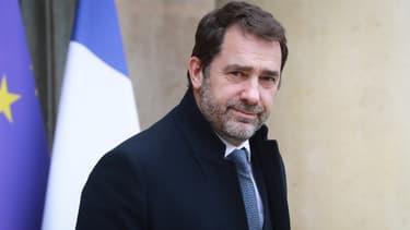 Christophe Castaner dans la cour de l'Elysée, le 4 mars 2020