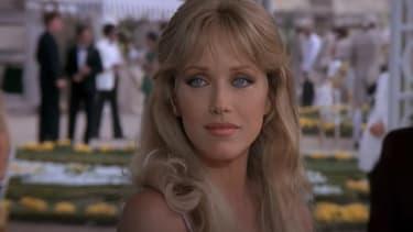 "L'actrice Tanya Roberts dans ""Dangereusement vôtre"" (1985)"