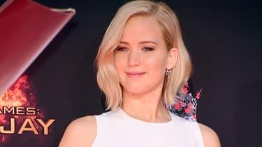 Jennifer Lawrence lors de la conférence de presse Hunger Games 4, à Hollywood le 31 octobre 2015