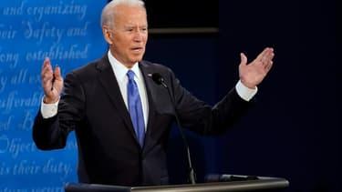 Le candidat démocrate à la présidentielle américaine Joe Biden lors de son débat avec Donald Trump le 22 octobre 2020 à Nashville, dans le Tennessee