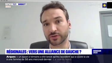 """Régionales 2021: Ugo Bernalicis, chef de file LFI, évoque """"la possibilité"""" d'une alliance avec toutes les forces de gauche"""