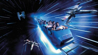 "Un aperçu de la nouvelle attraction ""Star Wars Hyperspace Mountain"""