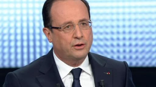 François Hollande sur le plateau de France 2, jeudi 28 mars 2013.