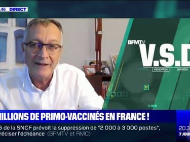 """Antoine Flahault: """"Après l'instauration du pass sanitaire, il y a eu un bond véritable de la couverture vaccinale française"""""""