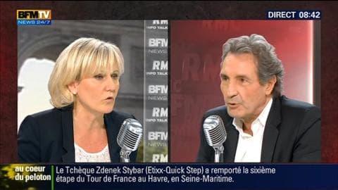 Nadine Morano face à Jean-Jacques Bourdin en direct