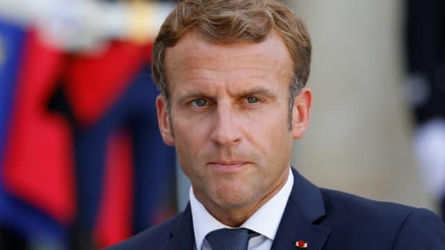 Emmanuel Macron à L'Elysée le 6 septembre 2021.