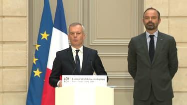 François de Rugy et Edouard Philippe, le 23 mai 2019 à l'Elysée.