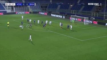 Le but de Ferland Mendy lors du match Atalanta-Real, le 24 février 2021