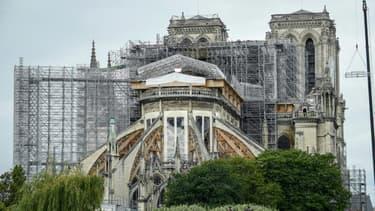 Le chantier de restaurant de Notre-Dame de Paris, le 8 juin 2020