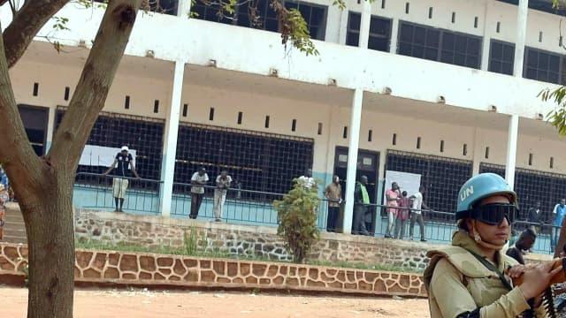 Un Casque bleu à Bangui (Centrafrique)