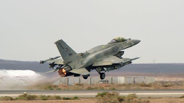 F-16 au décollage. (Illustration)