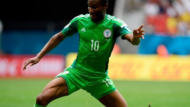 Le maillot du Nigéria porté par John Obi Mikel en 2016