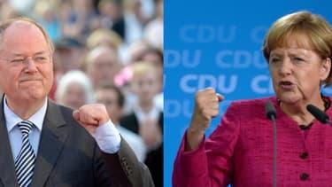 La chancelière et son rival du SPD s'affronteront lors d'un duel à la télévision dimanche soir.
