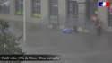Deux gendarmes ont sauvé une jeune femme bloquée dans sa voiture à cause des inondations, mardi 14 septembre 2021 à Nîmes (Gard)