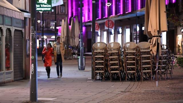 Les rues de Strasbourg le 24 octobre 2020.