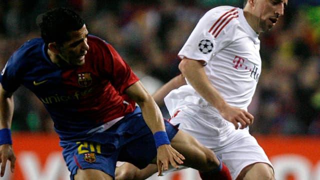 Dani Alves et Franck Ribéry se retrouveront en demi-finales des la C1