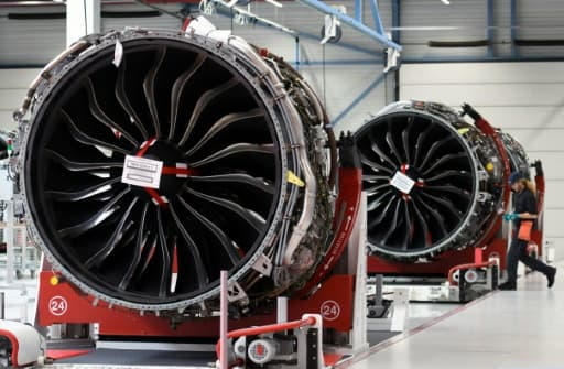 Des moteurs pour l'Airbus A320 Neo à l'usine de Safran en mai 2018 à Colomiers