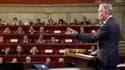 Le 1er ministre, Jean-Marc Ayrault, s'adressant aux partenaires sociaux et experts lors de la grande Conférence sociale