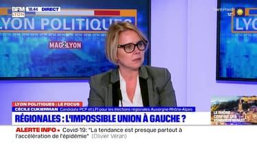 """Régionales: """"Le bilan de Laurent Wauquiez n'est pas à la hauteur"""" déplore Cécile Cukierman"""