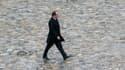 François Hollande, aux Invalides à Paris, le 14 février 2014.