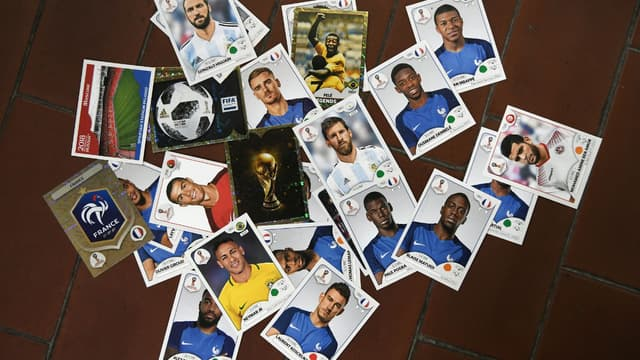 Quelques vignettes Panini de la Coupe du monde 2018.