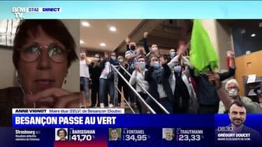 """La maire EELV de Besançon veut """"des élus de proximité, qui aillent sur le terrain"""""""