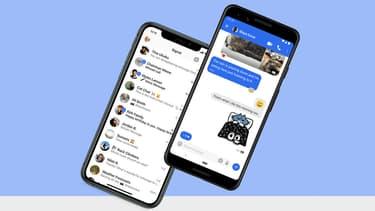 Capture d'écran de l'application de messagerie Signal
